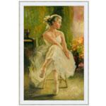 『白いドレスのヴァレリーナ』 M30号(90x60cm)
