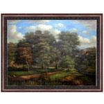 『大木と青空の見える風景』 F50号(90x120cm)