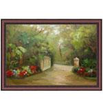 『庭園と門』 M30号(90x60cm)