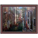 『水路のある街』 P40号(75x100cm)