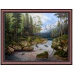 『森の小川』 F50号(90x120cm)
