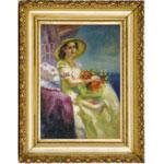 『花と婦人』 M30号(90x60cm)
