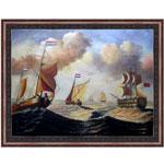 『洋上の船団』 F50号(90x120cm)