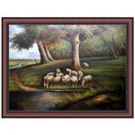 『川と羊群』 F50号(90x120cm)