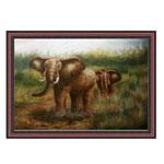 『象の行進』 M30号(90x60cm)