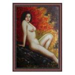 『裸婦と紅葉』 M30号(60x90cm)
