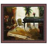 『ピアノのある部屋』 F12号(50x60cm)