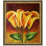 『黄色い花々』 F12号(50x60cm)