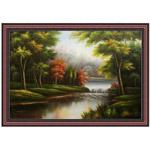 『森の渓流』 M30号(90x60cm)