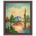 『サボテンのある風景』 40x50cm