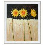 『黄色い三本の花』 F12号(50x60cm)