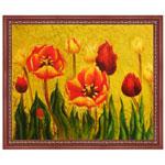 『花々、赤と黄色』 F12号(50x60cm)