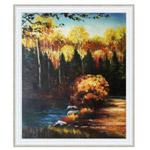 『森林と池』 F12号(50x60cm)