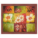 『葉と花』 F12号(50x60cm)
