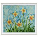 『青空と白い花』 F12号(50x60cm)