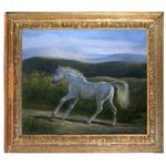 『白馬』 F12号(50x60cm)