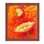 『赤中の白花』 F12号(50x60cm)