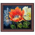 『青と赤、および白色の花々』 F12号(50x60cm)