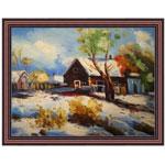 『小屋の見える雪景色』 30x40cm