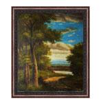 『森と雲』 F12号(50x60cm)