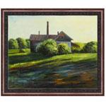 『草原の家』 F12号(50x60cm)