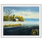 『雪と氷の見える風景』 F12号(50x60cm)