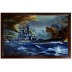 『戦艦『大和』の勇姿』 M50号(727x1167mm)