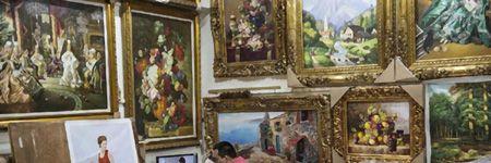 絵画を額縁に入れて楽しむ文化は芸術の一分野